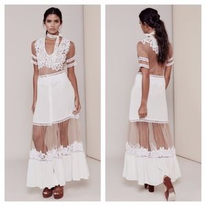 NWT For Love And Lemons Carmine Maxi Long Dress XS